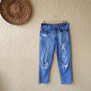 American eagle vintage hi-rise distressed jeans